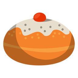 Donut en polvo relleno de gelatina