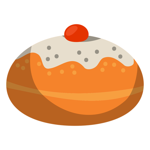 Jelly filled powdered donut Transparent PNG