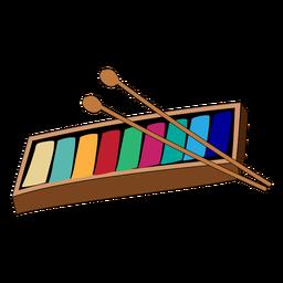 Doodle del instrumento musical niños glockenspiel