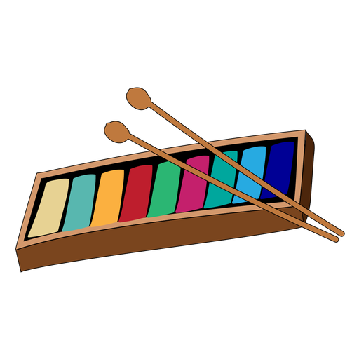 Kids glockenspiel musical instrument doodle
