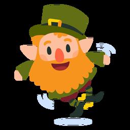 Leprechaun clicando em desenhos animados de saltos