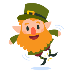 Leprechaun clicking heels cartoon