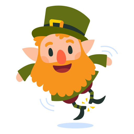 Leprechaun clicking heels cartoon Transparent PNG