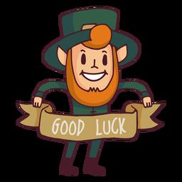 Dibujos animados de buena suerte de duende
