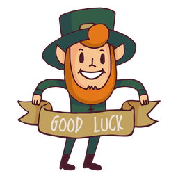 Leprechaun good luck cartoon