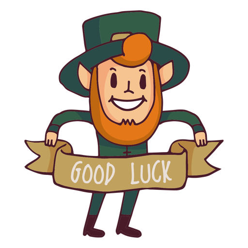 Leprechaun good luck cartoon Transparent PNG