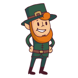 Leprechaun mãos no cartoon de peito