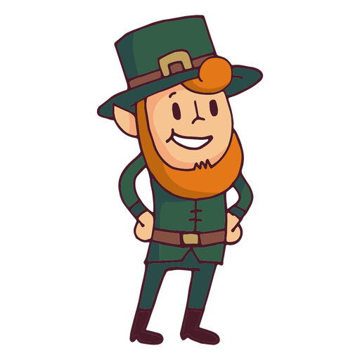 Leprechaun Hands On Chest Cartoon Transparent Png Svg Vector File