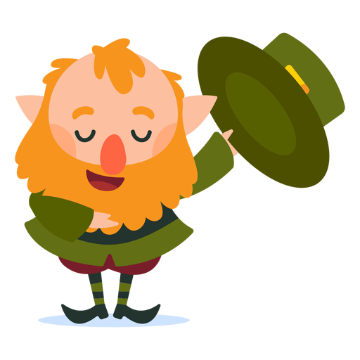 Leprechaun hat down cartoon Transparent PNG