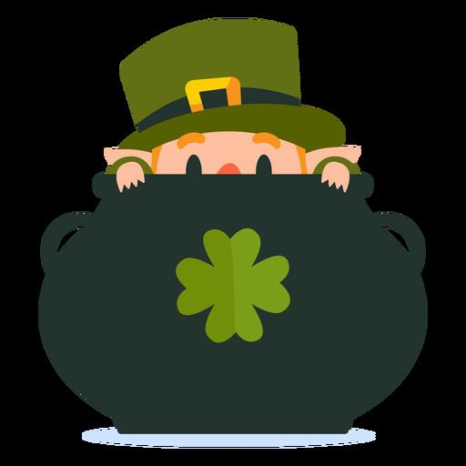 Leprechaun in pot cartoon Transparent PNG