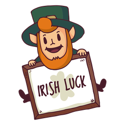 Leprechaun irish luck board cartoon