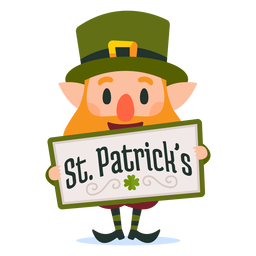 Leprechaun st patricks cartoon