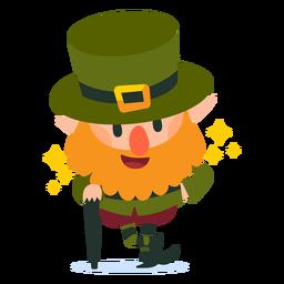 Leprechaun com desenhos animados de cana