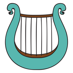 Doodle de instrumento musical lira