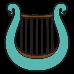 Doodle de instrumentos musicales de lira.