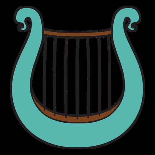 Doodle de instrumento musical lira Transparent PNG