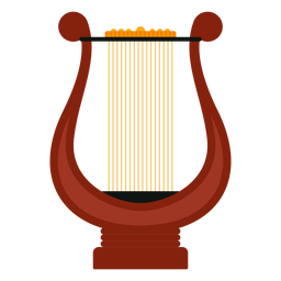 Lyre musical instrument icon