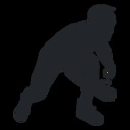 Man wrestler silhouette
