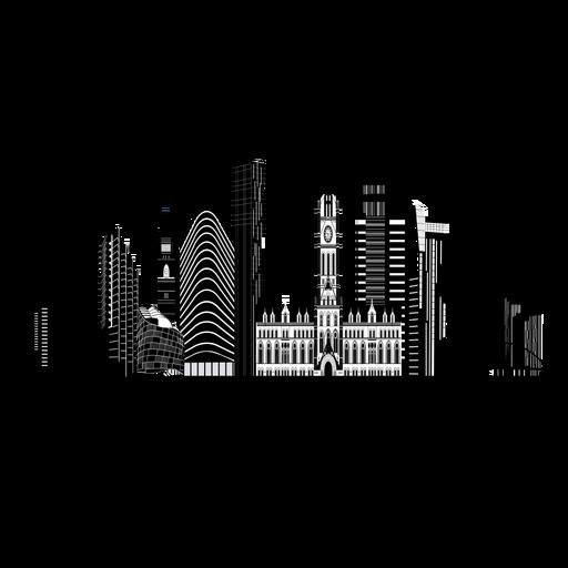 Manchester skyline silhouette