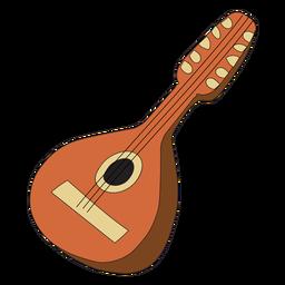 Doodle de instrumento musical de bandolim