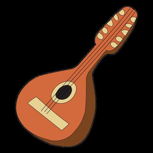 Mandolina instrumento musical doodle Transparent PNG