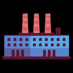 Ilustração de construção de planta de fabricação
