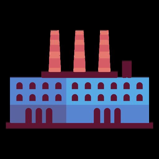 Ilustración de edificio de planta de fabricación Transparent PNG