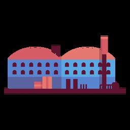 Ilustración de planta de fabricación