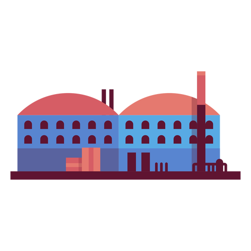 Manufacturing plant illustration Transparent PNG