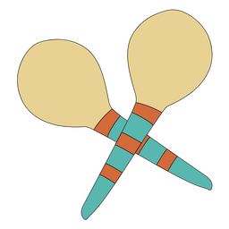 Maraca musical instrument doodle