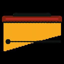Markieren Sie Baum Musikinstrument Symbol