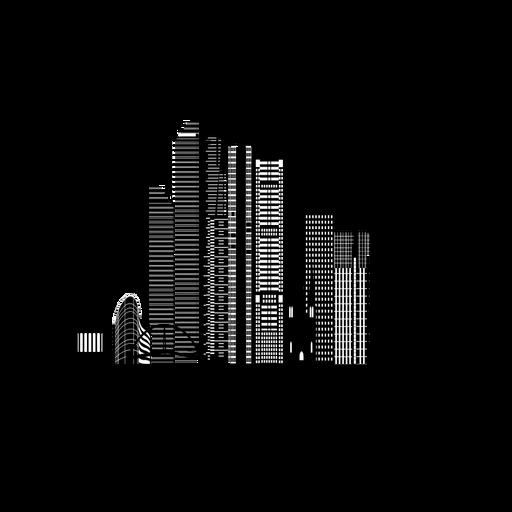 Melbourne skyline silhouette Transparent PNG
