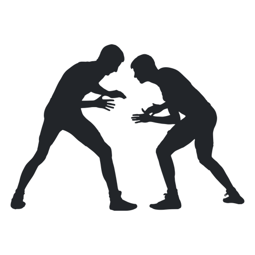 Homens, luta wrestling, silueta Transparent PNG