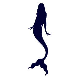Mermaid aquatic creature silhouette