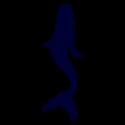Sirena silueta de criatura acuática