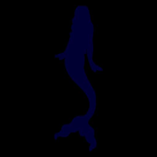 Mermaid aquatic creature silhouette Transparent PNG