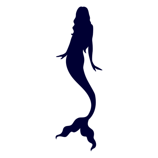 Mermaid aquatic creature silhouette