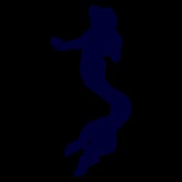 Meerjungfrau Kreatur Silhouette