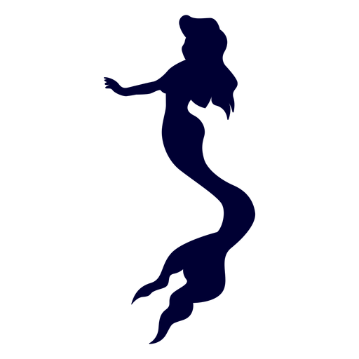 Mermaid creature silhouette Transparent PNG
