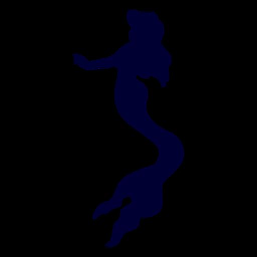 Silueta de criatura sirena Transparent PNG