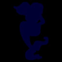 Meerjungfrau posiert Silhouette