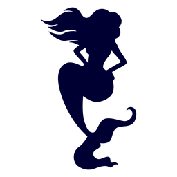 Sirena posando silueta