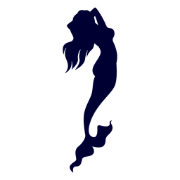 Mermaid sea creature silhouette