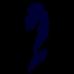 Sereia, criatura mar, silueta