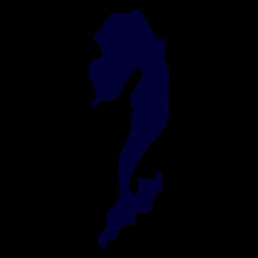 Mermaid sea creature silhouette Transparent PNG