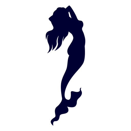 Mermaid sea creature silhouette