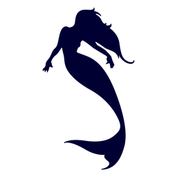 Meerjungfrau Schwimmen Silhouette