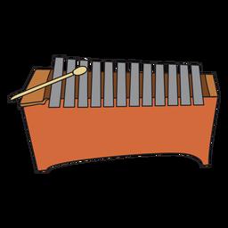 Doodle de instrumento musical metalofone
