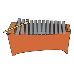 Doodle de instrumento musical metalófono