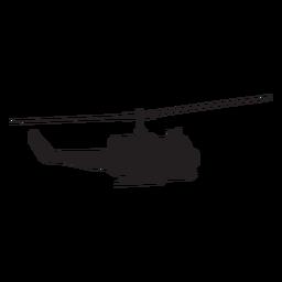 Silhueta de helicóptero militar